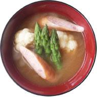 洋野菜の味噌汁