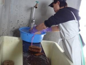 味噌玉 洗い2度目